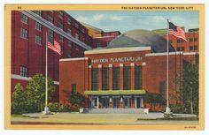 Postcards - United States # 40 - Hayden Planetarium, New York, NY