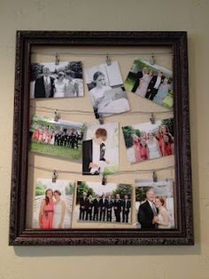 Pictures Hung From Wire In A Old Picture Frame Diy Sewing Projects Crafty