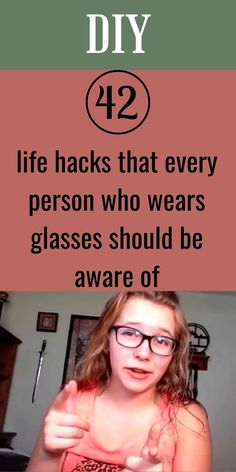 Many people are wearing glasses as part of a fashion statement, but for some, it is not an option. Life without good vision can be hard, and glasses aren't always the most elegant solution. #42 #lifehacks #glasses Pimple Solution, Baby Snowsuit, Ginger Water, Running Watch, Avocado Smoothie, Hairbrush, Wearing Glasses, Highlighters, Useful Life Hacks