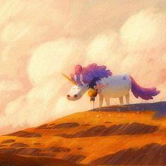 Unicorn Friends by Gop Gap on ArtStation. Illustration Art Drawing, Illustrations, Character Illustration, Digital Illustration, Art Drawings, Character Design Animation, Character Art, Concept Art World, Cg Art