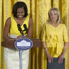 Michelle Obama & Jill Biden color coordinate!     http://www.huffingtonpost.com/2012/05/10/michelle-obama-jill-biden-color-coordinate_n_1507248.html?ref=style