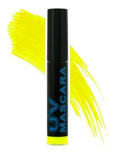 You can't me mellow when your lashes are yellow! Make your peepers pop with this amazing Neon Yellow Mascara from Stargazer! Neon pigments react under UV black lights, for the brightest lashes you can get! Medium bristle brush for easy application. Gives volume and lift without clumping.