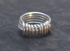 Minimal Modern Unisex Bold Aluminum Wire Ring by artwearhandmade, $24.00