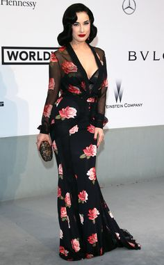5c91e1ba0fb Dita Von Teese from amfAR Gala 2014  Red Carpet Arrivals