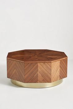 Quillen Marquetry Coffee Table by Anthropologie in Brown Size: All, Tables Unique Coffee Table, Coffee And End Tables, Round Coffee Table, Brass Coffee Table, Modern Coffee Tables, Side Tables, Hanging Furniture, Unique Furniture, Plywood Furniture