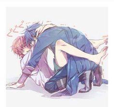 Misaki x Fushimi cute picture