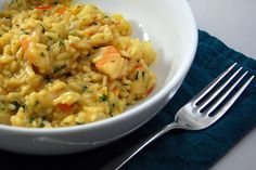 A recipe for Seafood Risotto from Cook's Illustrated! And it has shrimp! And scallops! And wine!