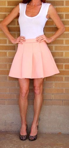 1f46261a1d NWT~Front Row Shop~Sponge Mini Skirt~Pleated~Peach~M~$70 *SOLD OUT  EVERYWHERE* #FrontRowShop #Pleated