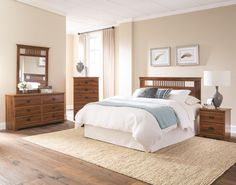 Package Includes: 6 Drawer Dresser, Mirror, Nightstand, Headboard, & 5 Drawer Chest Quality Bedroom Furniture Construction For over 40 years, Lang Furniture has been making quality bedroom furniture t