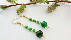 Hey, I found this really awesome Etsy listing at https://www.etsy.com/uk/listing/291972623/sale-green-drop-earrings-green-dangle