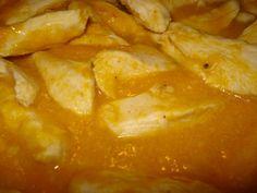 Straccetti di pollo con crema di peperoni
