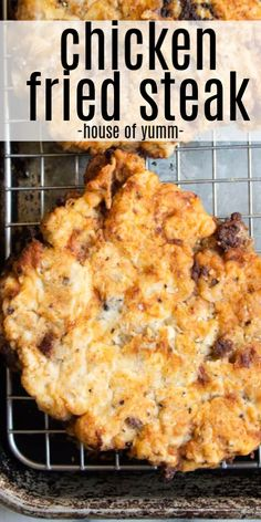 Lower Excess Fat Rooster Recipes That Basically Prime Chicken Fried Steak. The Ultimate In Southern Comfort Food Tender Seasoned Steak, Coated With A Thick Batter And Fried Until Golden. Presented With A Cream Gravy Drizzled On Top. Cube Steak Recipes, Meat Recipes, Best Cubed Steak Recipe, Recipes For Round Steak, All Recipes, Country Fried Steak Recipe, Dinner Recipes, Entree Recipes, Lunch Recipes