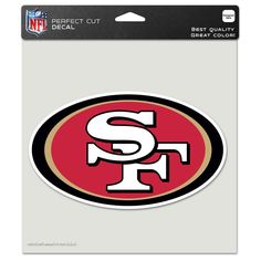 San Francisco 49ers 8x8 Perfect Cut Decal - Sportsfan