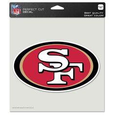 San Francisco 49ers 8x8 Perfect Cut Decal - Sportsfan
