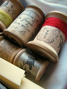 Incredibly lovely spools of thread