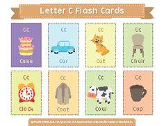 Letter C Flash Cards