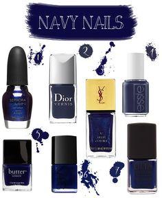 navy nails - http://yournailart.com/navy-nails/ - #nails #nail_art #nails_design #nail_ ideas #nail_polish #ideas #beauty #cute #love