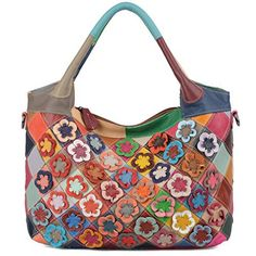 New Trending Shoulder Bags: YALUXE Womens Soft Lambskin Leather Multicolor Tote Crossbody Shoulder Bag Flower-3. YALUXE Women's Soft Lambskin Leather Multicolor Tote Crossbody Shoulder Bag Flower-3  Special Offer: $56.99  177 Reviews Made from labmskin leather,extremely comfortable touch.This bag holds plenty, with room for every essential you could need,like 13″ laptop,wallet and so...