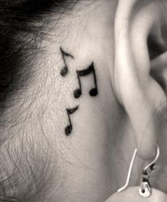 I want a music note tattoo behind my ear. Just one though, not three. I just want one eighth note..