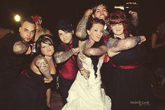 Rockabilly Wedding Spiderweb Elbow Tats!