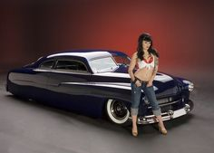 From the Austin Speed Shop - Jesse James 51 Mercury . Johnny Depp has one of these - cool old cars Rat Rods, Car Girls, Pin Up Girls, Girl Car, West Coast Choppers, Cool Old Cars, Lead Sled, Jesse James, Kustom Kulture