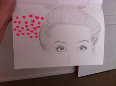 My art draw, a girl in love , drawing