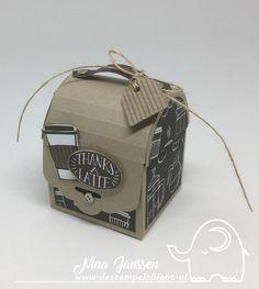 Creatieve Harten Bloghop – Dat doe je zo….. De stempelolifant - Stampin'Up! - Coffee café - tutorial - kadootjes - kadoosjes - box - scorebord