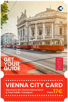 Enjoy Vienna and explore the city with free, unlimited use of the city's metro, tram, and bus lines. Get around the city quickly and easily, and enjoy over 210 discounts at popular tourist attractions, museums, shops, and much more. Vienna City Card has flexible duration options, which comes in very handy when planning your trip to #Vienna #Austria. This purchase is curated by Get Your Guide, therefore you can cancel up to 24 hours in advance to receive a full refund. #affiliate Travel Europe, Travel Destinations, Vienna Austria, Plan Your Trip, Public Transport, Natural Wonders, Museums, Fun Activities, Attraction