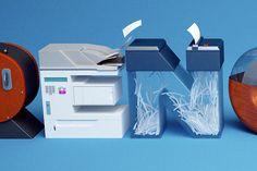 3D Typography Inspiration by Benoit Challand   Abduzeedo Design Inspiration
