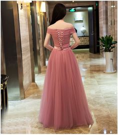 2016 New Dusty Pink Cheap Bridesmaid Dresses Long Off The Shoulder Tulle In Stock Ready To Ship Bridesmaid Gowns Under 100
