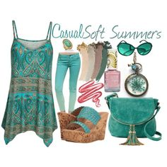 A fashion look from July 2017 featuring Sbicca sandals, Deluxity shoulder bags and Palm Beach Jewelry rings. Browse and shop related looks.