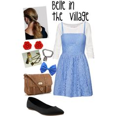 """Belle disneybound"" by sunshinemarymac on Polyvore"