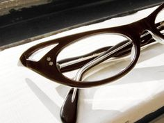 50's Xtreme Pointy French Cat Eye Eyeglass by BackThennishVintage, $165.00