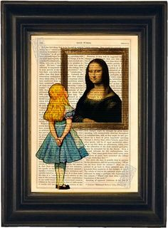Alice meets Mona Lisa