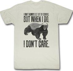 Honey Badger Dont Care Meme Funny Adult T-Shirt Tee Select Shirt Size: X-Large