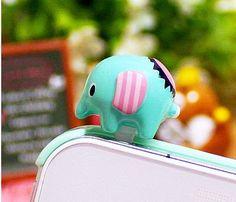 Cute Elephant Cell Plug Cute Cases, Cute Phone Cases, Iphone Cases, Phone Accesories, Cell Phone Accessories, Dust Plug, Cute Elephant, Animal Jewelry, Clay Creations