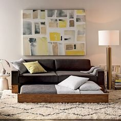 Trendy and Modern Living Room Design | Yellow and Grey Living Room