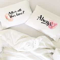 Wedding Gift Couples Pillowcases Harry Potter After All This Time Always Pillows Long Distance Relationship Gift LDR Pillowcases Love Always by OSusannahs on Etsy https://www.etsy.com/listing/264296552/wedding-gift-couples-pillowcases-harry