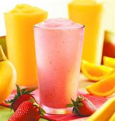 GALA APPLE SMOOTHIE  1 Gala apple, peeled, cored and chopped   1 frozen banana, peeled and chopped   1/2 cup orange juice   1/4 cup nonfat milk   In a blender combine frozen banana, orange juice, apple and milk.  Blend until smooth. pour into glasses and serve.   Makes 2 servings
