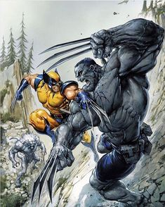 Weapon X vs Weapon H #art by #ClaytonCrain I still gotta catch up on this story. #SoFarBehind #ComicBooks #ReadingComics #Wolverine #Hulk #WeaponX #WeaponH #Wendigo #Vs #Versus