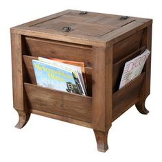 End Tables with Storage Space left chair side reading table ot37a