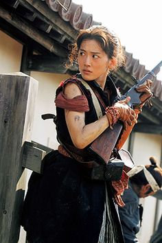 Japanese Actress, Haruka Ayase (綾瀬はるか)  pic from Japanese historical play drama YAE NO SAKURA. (八重の桜) she is playing the main character, Yae Yamamoto (山本八重).