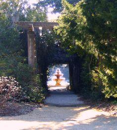 Fountain, Airlie Gardens. Wilmington NC