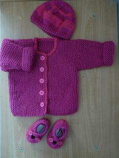 ensemble brassiere chausson bonnet rose(T. naissance) : Mode Bébé par angelinalary
