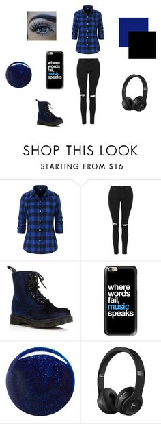 """""""Outfit Idea #4"""" by bluejasmine360 ❤ liked on Polyvore featuring Topshop, Dr. Martens, Casetify and RGB"""