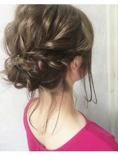 (gem)ゆるアレ Cool Haircuts For Girls, Medium Hair Styles, Long Hair Styles, Hair Arrange, Hair Setting, Messy Updo, Festival Hair, Up Styles, Wedding Makeup