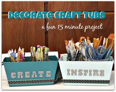 DIY Beautiful Craft storage in 15 minutes @savedbyloves