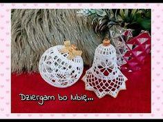 Szydełkowa bombka wzór 1 - cz.1/2 - YouTube Christmas Balls, Christmas Candy, Christmas Crafts, Christmas Decorations, Christmas Ornaments, Holiday Decor, Crochet Ball, Thread Crochet, Crochet Stitches
