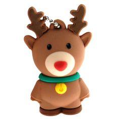 Christmas Gift Reindeer USB Flash Drive