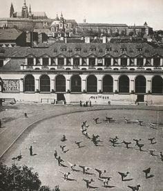 Exercises under the castle, Prague, Mala Strana Czech Republic, True Beauty, Old Photos, Castle, Black And White, City, Wwii, Exercises, Travel